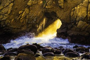 Dan Blackburn Sunset at Keyhole Arch Big Sur California_MGL1927