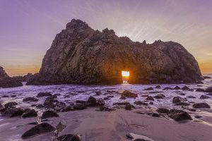 Dan Blackburn Sunset at Keyhole Arch Big Sur California_MGL1993